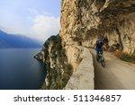 mountain biking at sunrise man... | Shutterstock . vector #511346857