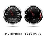 speedometer  tachometer. black... | Shutterstock .eps vector #511349773