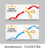 grand opening card with red... | Shutterstock . vector #511351783