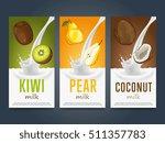 milkshake concept with milk... | Shutterstock .eps vector #511357783