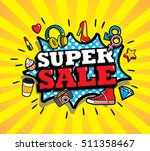 sale vector design  patches in... | Shutterstock .eps vector #511358467