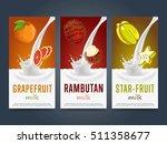milkshake concept with milk... | Shutterstock .eps vector #511358677
