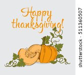 thanksgiving greeting card with ... | Shutterstock .eps vector #511360507