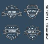 set flat crest collection vector | Shutterstock .eps vector #511368487