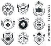 vector emblems  vintage...   Shutterstock .eps vector #511370383
