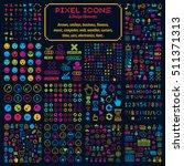 vector flat 8 bit icons ... | Shutterstock .eps vector #511371313