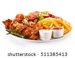 kebabs   grilled meat and... | Shutterstock . vector #511385413