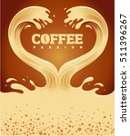 couple of coffee waves creating ... | Shutterstock .eps vector #511396267