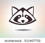 sign of raccoon. wild animal... | Shutterstock .eps vector #511407733