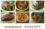 Food Set Of Different  Beef ...