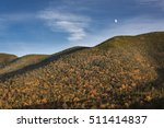 Small photo of Moonrise Over the Adirondack Mountains
