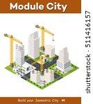construction crane heavy... | Shutterstock .eps vector #511416157