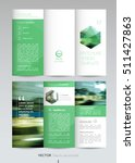 geometric trifold business... | Shutterstock .eps vector #511427863