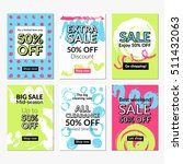 flat hand drawn design sale... | Shutterstock .eps vector #511432063