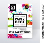 party flyer template. vector... | Shutterstock .eps vector #511435867