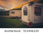camping under the rainbow. two... | Shutterstock . vector #511446133