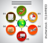 logistics infographics  icons... | Shutterstock .eps vector #511449853