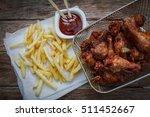 Deep Fried Chicken Wings On...