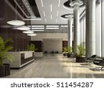 interior of hotel reception 3d... | Shutterstock . vector #511454287