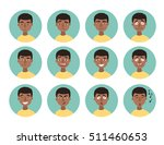 set of african american boy... | Shutterstock .eps vector #511460653