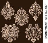vector set of damask ornamental ... | Shutterstock .eps vector #511463587