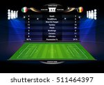 football or soccer playing... | Shutterstock .eps vector #511464397