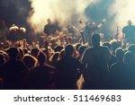 rock concert  cheering crowd in ... | Shutterstock . vector #511469683