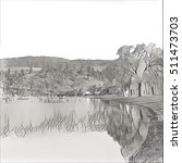 digital photo of lake shore... | Shutterstock . vector #511473703