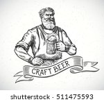 happy brewer or craftsman's...