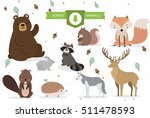 Stock vector forest animals 511478593