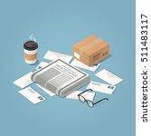 vector isometric illustration... | Shutterstock .eps vector #511483117