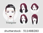 vector set beautiful women icon ... | Shutterstock .eps vector #511488283