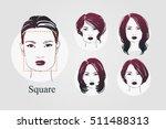 vector set beautiful women icon ... | Shutterstock .eps vector #511488313