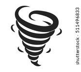 tornado icon in black style... | Shutterstock .eps vector #511496833
