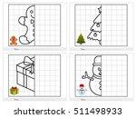 christmas theme activity sheet  ... | Shutterstock .eps vector #511498933