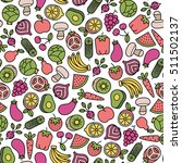 seamless pattern with fruits... | Shutterstock .eps vector #511502137