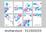 abstract background with liquid ... | Shutterstock .eps vector #511503253