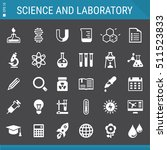 science and laboratory icon set | Shutterstock .eps vector #511523833