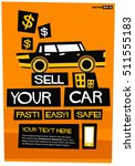 sell your car easy fast safe... | Shutterstock .eps vector #511555183