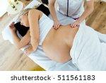 portrait of beautiful pregnant... | Shutterstock . vector #511561183