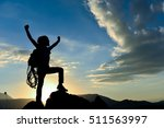success of reaching the summit | Shutterstock . vector #511563997