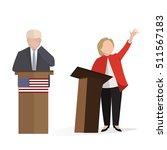 presidential candidate speaks... | Shutterstock .eps vector #511567183