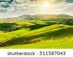 beautiful summer landscape ... | Shutterstock . vector #511587043