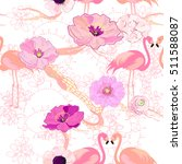 seamless pattern with pink... | Shutterstock .eps vector #511588087