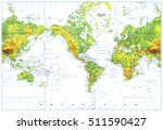america centered physical world ... | Shutterstock .eps vector #511590427