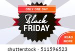 vector black friday sale banner | Shutterstock .eps vector #511596523