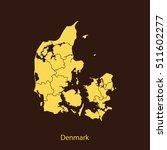 map of denmark | Shutterstock .eps vector #511602277
