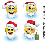 smileys dressed in various... | Shutterstock .eps vector #511603687