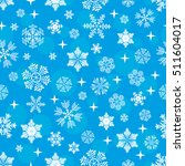 snowflake pattern on a blue...   Shutterstock .eps vector #511604017