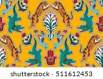 seamless indian pattern. set of ... | Shutterstock .eps vector #511612453